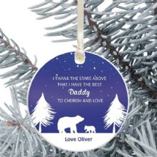 Thank the Stars Above Daddy Keepsake Ceramic Christmas Tree Decoration